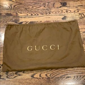 """Gucci dust bag brown gold 24x15"""""""